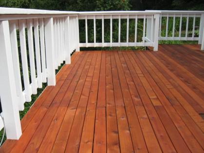 a deck we repaired in North Carolina